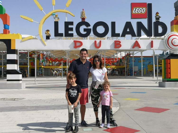 ellie white dubai legoland family